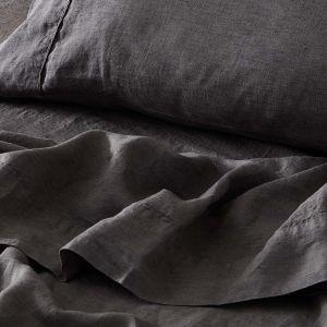 Antwerp Linen Flat Sheet  - Charcoal