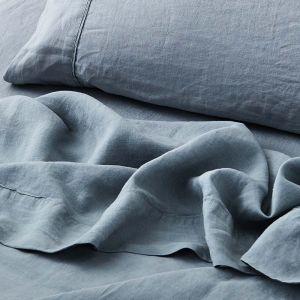 Antwerp Linen Flat Sheet  - Cloud
