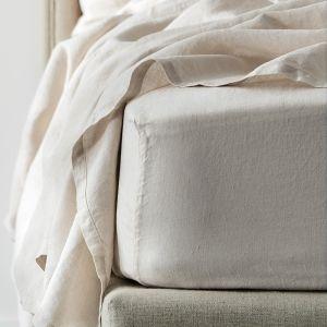 Antwerp Linen Fitted Sheet  - Natural