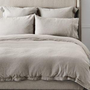 Antwerp Linen Quilt Cover  - Natural