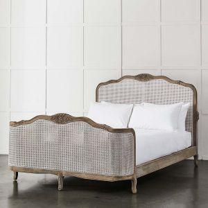 Rushworth Rattan Bed    - Natural