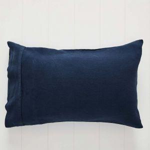 Antwerp Linen Pillowcase Std Pair Navy