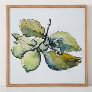 Lemon Stem Print 63x63