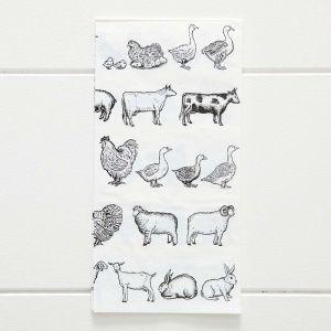 Farm Animals Dinner Serviette