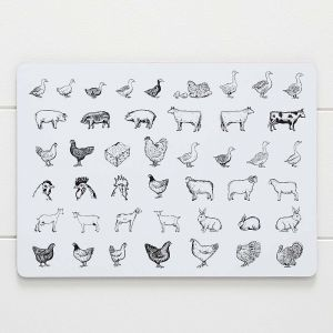 Porter Farm Animals Placemat