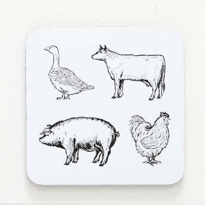 Porter Farm Animals Coaster