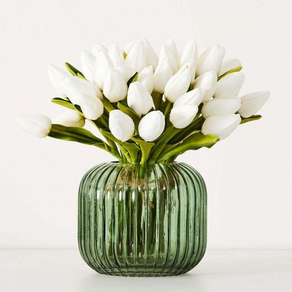 White Tulip Bunch