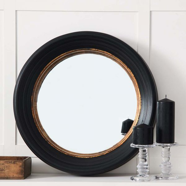 Black w Gold Convex Mirror
