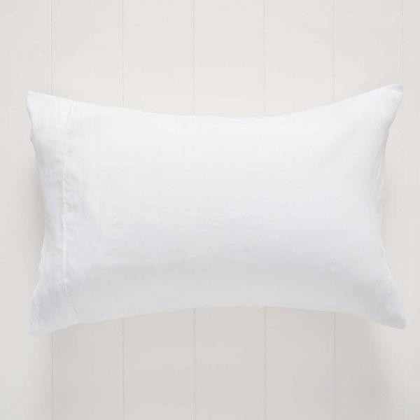 Antwerp Linen Pillowcase Std Pair White