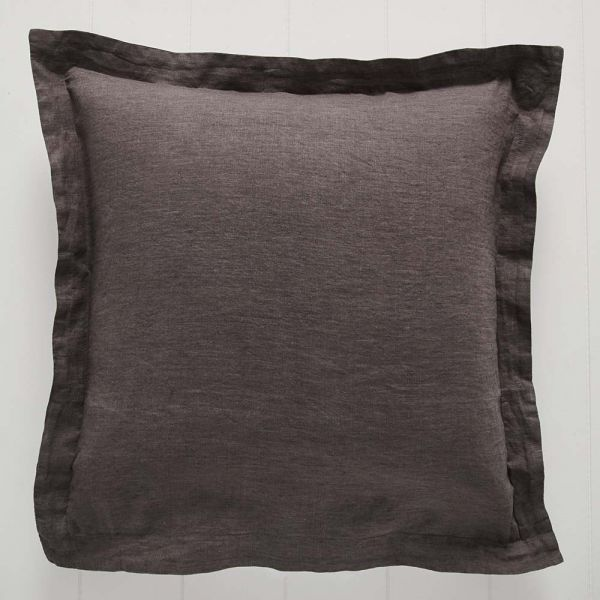 Antwerp Linen Euro Pillowcase Charcoal