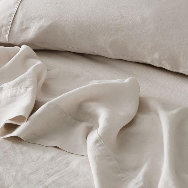 Antwerp Linen Flat Sheet  - Natural