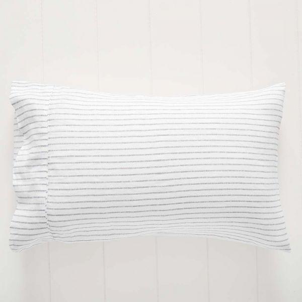 Antwerp Linen Pillowcase Std Pair Stripe