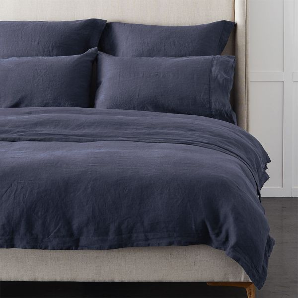 Antwerp Linen Quilt Cover - Indigo