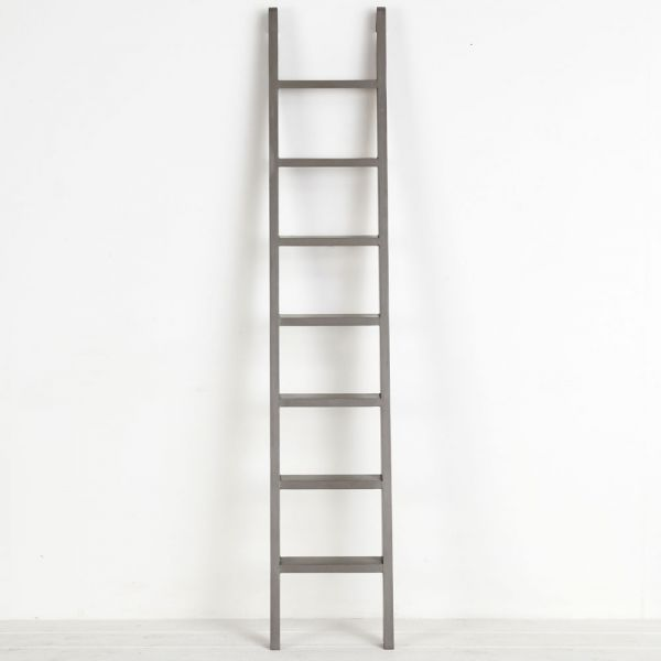 French Grey Library Ladder