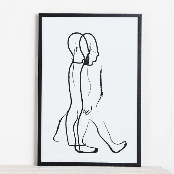 Walking Man Print 56x83
