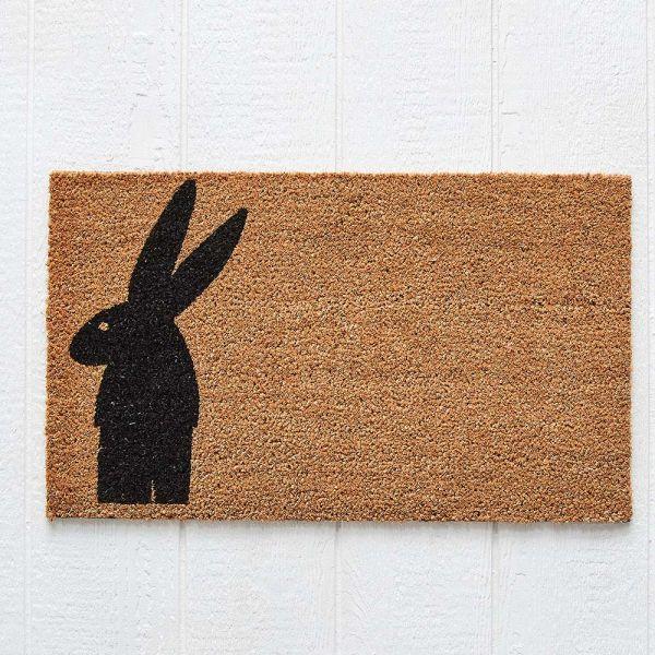 Standing Rabbit Doormat 75x45