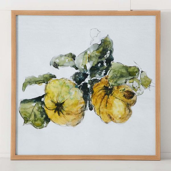 Quince Bunch Print 63x63