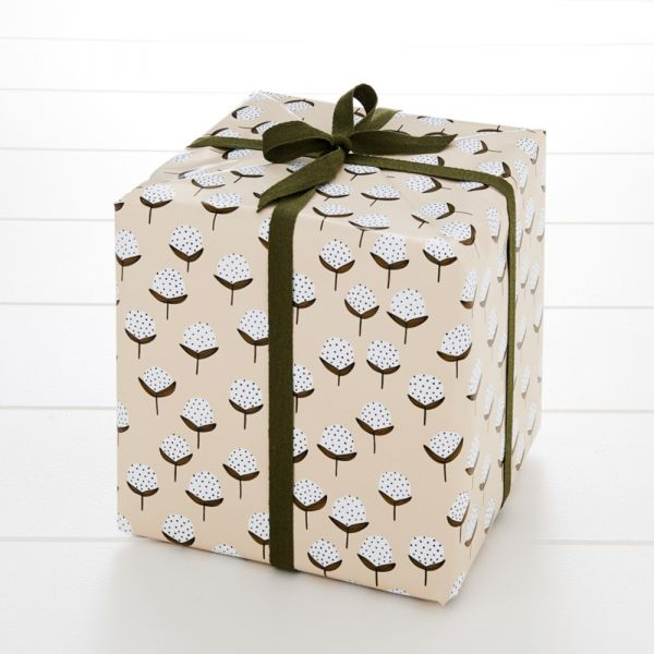 Floral Puff Wrapping Paper