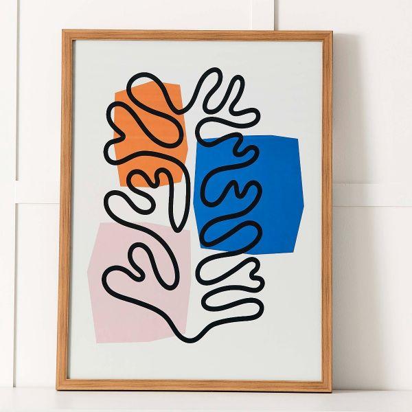 Matisse Coral Print