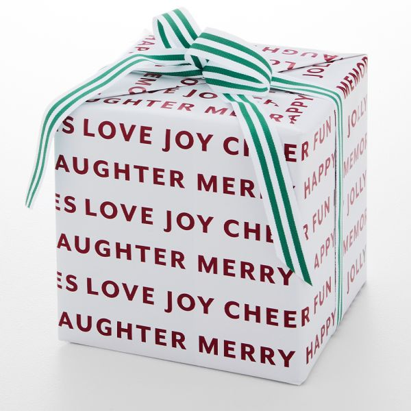 Jolly Classic Script Wrapping Paper - 5m