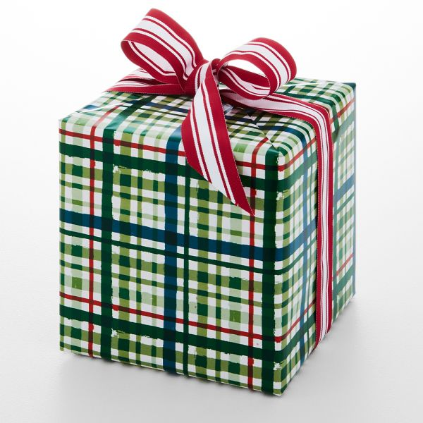 Jolly Classic Plaid Wrapping Paper - 5m