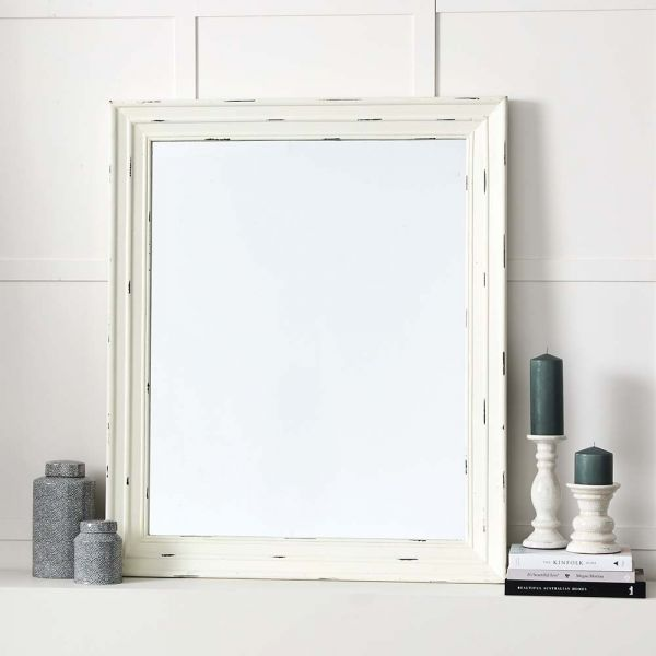 """Antique"" White Mirror"