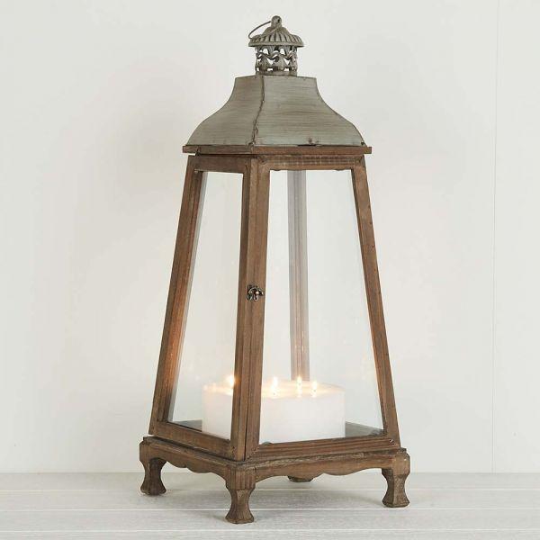"""""""Antique"""" Wooden Lantern"""