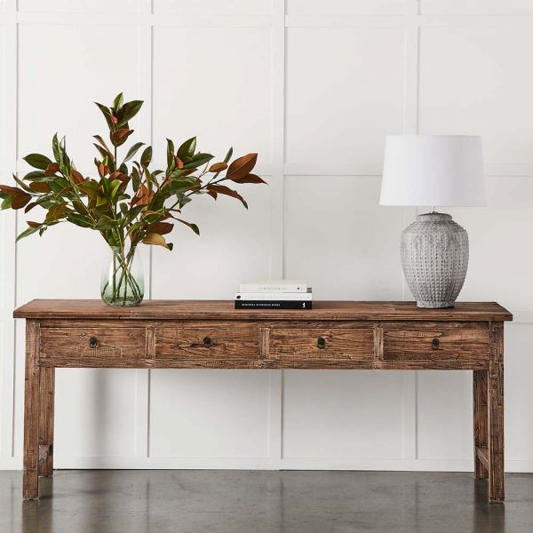 4 Drawer Elm Sofa Table